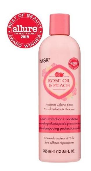 Zobrazit detail výrobku Hask Kondicionér pro barvené vlasy - růž.olej-broskev 355 ml