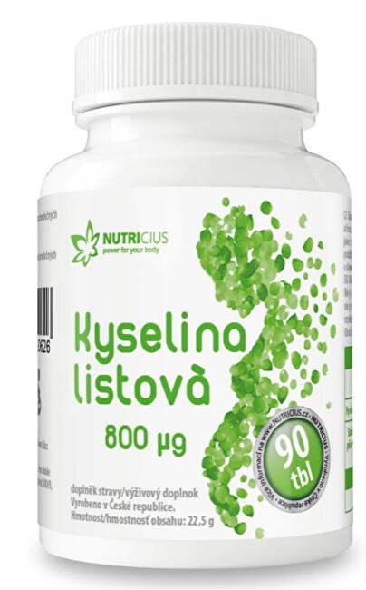 Zobrazit detail výrobku Nutricius Kyselina Listová 800 mcg 90 tablet