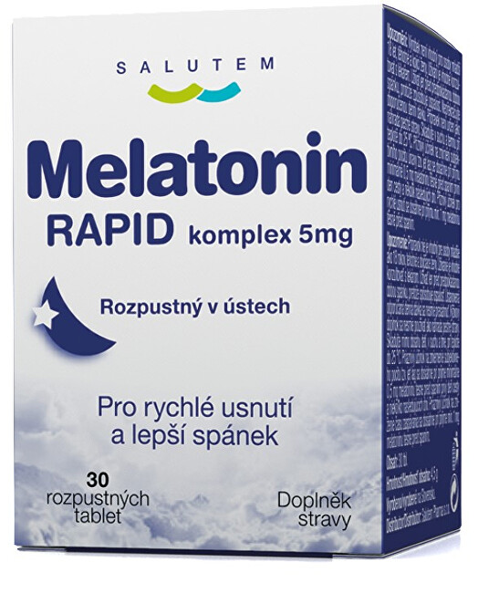 SALUTEM Pharma Melatonín Rapid komplex 5 mg 30 tabliet