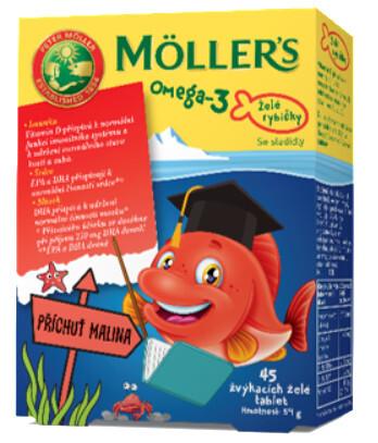 Möller´s Möller`s želé rybičky 45 želé