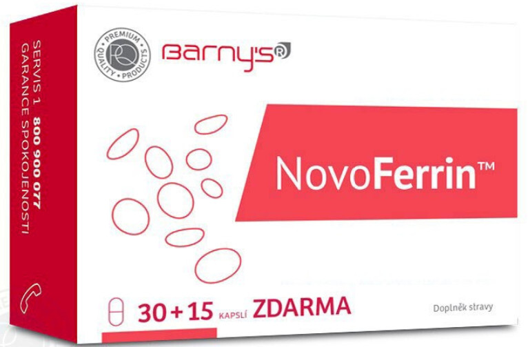 Barny´s NovoFerrin 30 kapslí + 15 zdarma