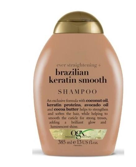 OGX Zjemňujúci šampón brazílsky keratín 385 ml