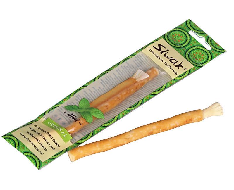 Siwak přírodní zubní kartáček s příchutí máty