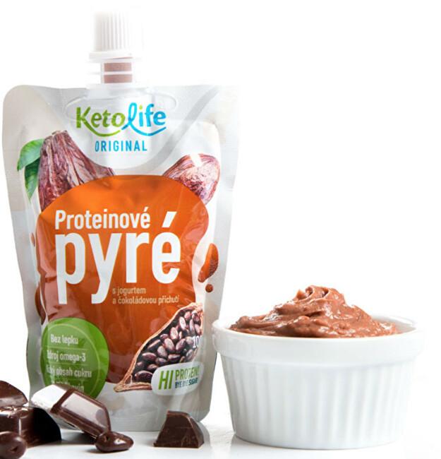 Zobrazit detail výrobku KetoLife Proteinové pyré - S jogurtem a čokoládovou příchutí 100 g