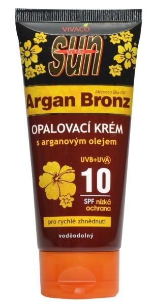SUN Vital Opalovací krém OF 10 s arganovým olejem 100 ml