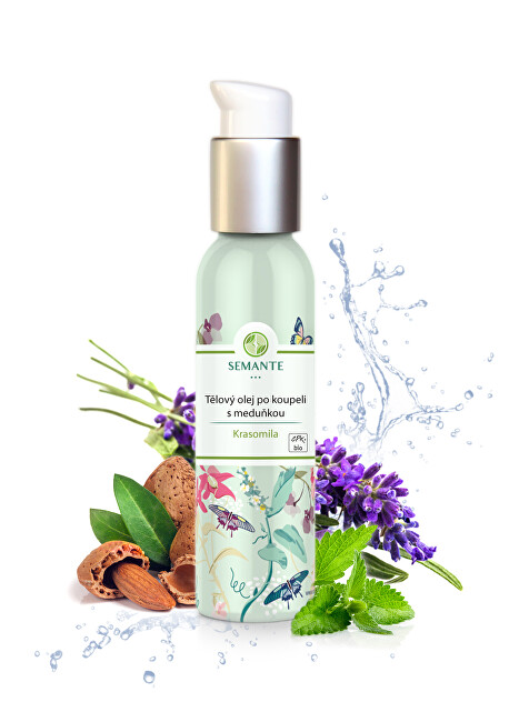 Semante by Naturalis Tělový olej po koupeli s meduňkou