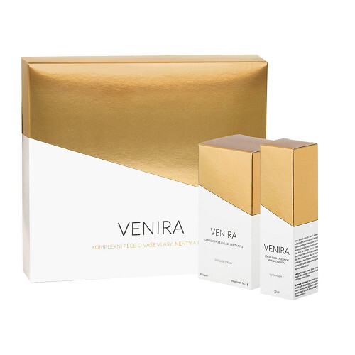 Venira VENIRA dárkový set - 40 denní kúra 80 kapslí a Sérum s BIO kyselinou hyaluronovou a vitamínem C 30 ml
