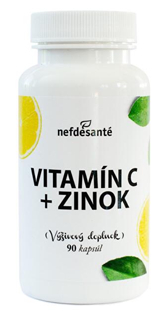 Nef de Santé Vitamín C + Zinek 90 kapslí