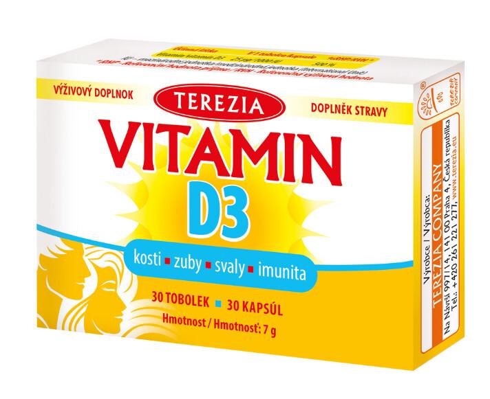 Zobrazit detail výrobku Terezia Company Vitamin D3 1000 IU 30 tobolek
