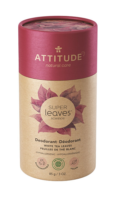 Zobrazit detail výrobku ATTITUDE Přírodní tuhý deodorant Super leaves  - listy bílého čaje  85 g
