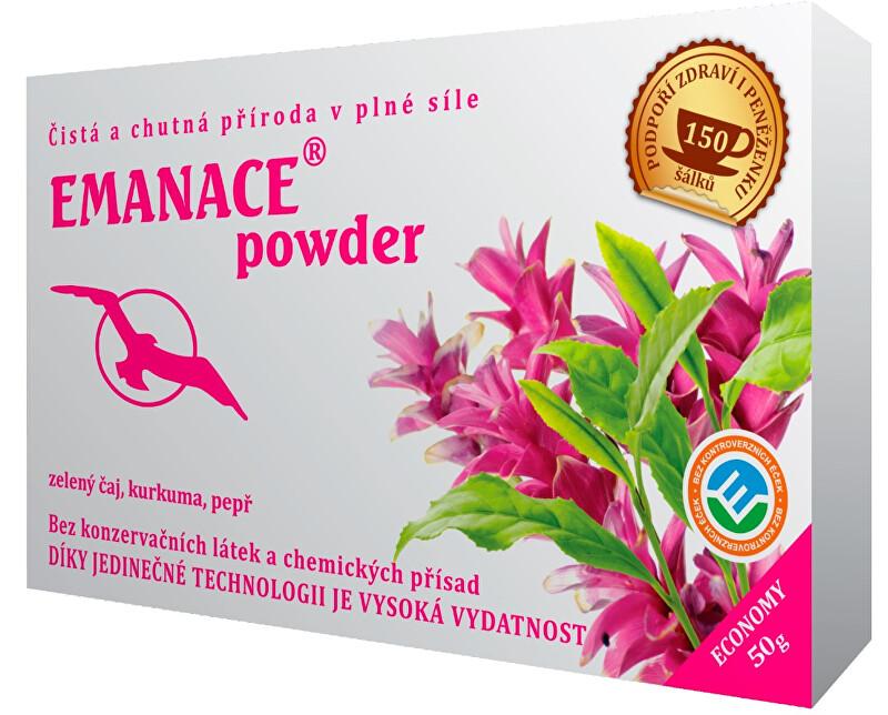 Zobrazit detail výrobku Čaje Hannasaki Emanace powder - zelený čaj, kurkuma, pepř 50 g