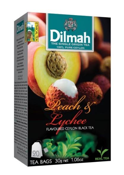 Zobrazit detail výrobku Dilmah Čaj černý, Broskev, Lychee 20 ks