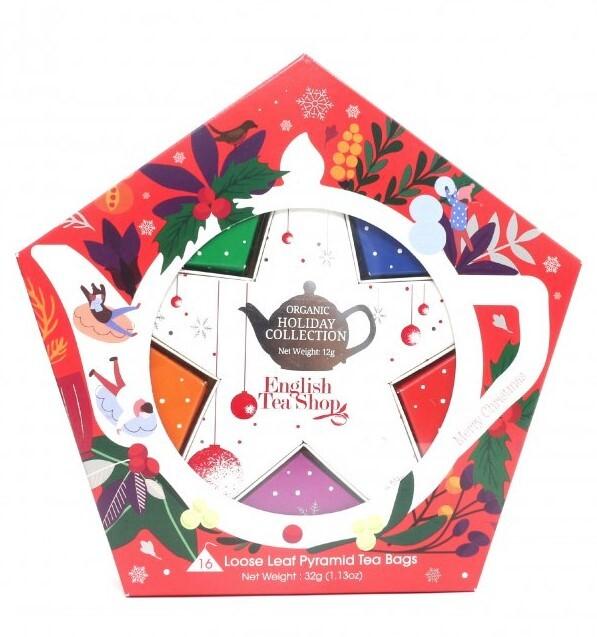 Zobrazit detail výrobku English Tea Shop Dárková kolekce s Červeno stříbrnou hvězdou 16 čajových sáčků