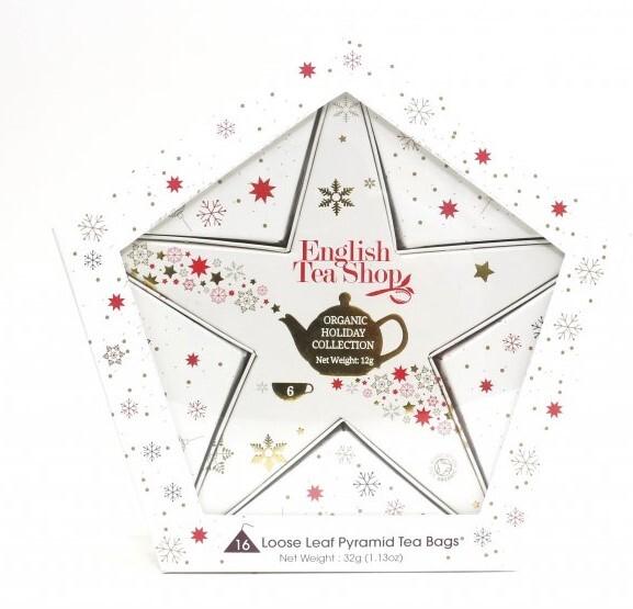Zobrazit detail výrobku English Tea Shop Dárková kolekce s Červeno zlatou hvězdou 16 sáčků