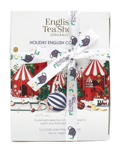 English Tea Shop Vánoční Bílá kolekce 12 pyramidek