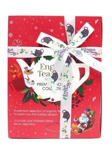 English Tea Shop Vánoční Červená kolekce 12 pyramidek