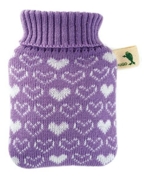 Zobrazit detail výrobku Hugo-Frosch Dětský termofor Hugo Frosch Classic MINI s pleteným obalem - srdíčka, filaový