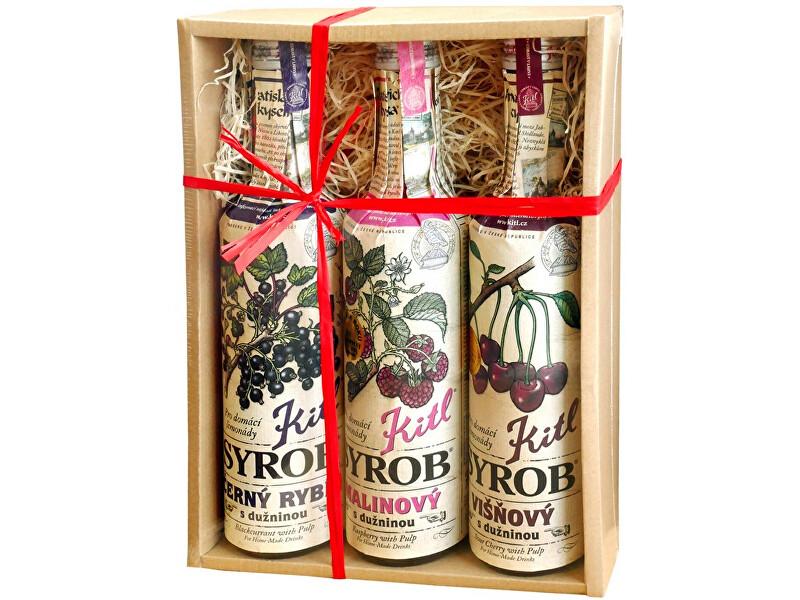 Zobrazit detail výrobku Kitl Syrob Červené ovoce (Malina, Višeň, Č. rybíz) 3x 500 ml