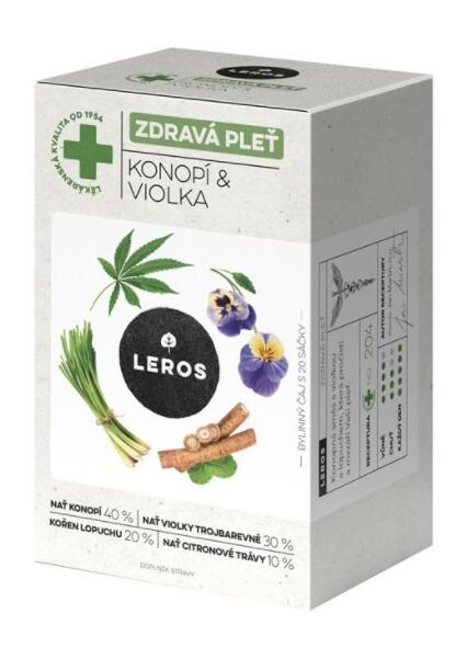 Zobrazit detail výrobku LEROS Zdravá pleť -  konopí & violka 20 x 1,5 g