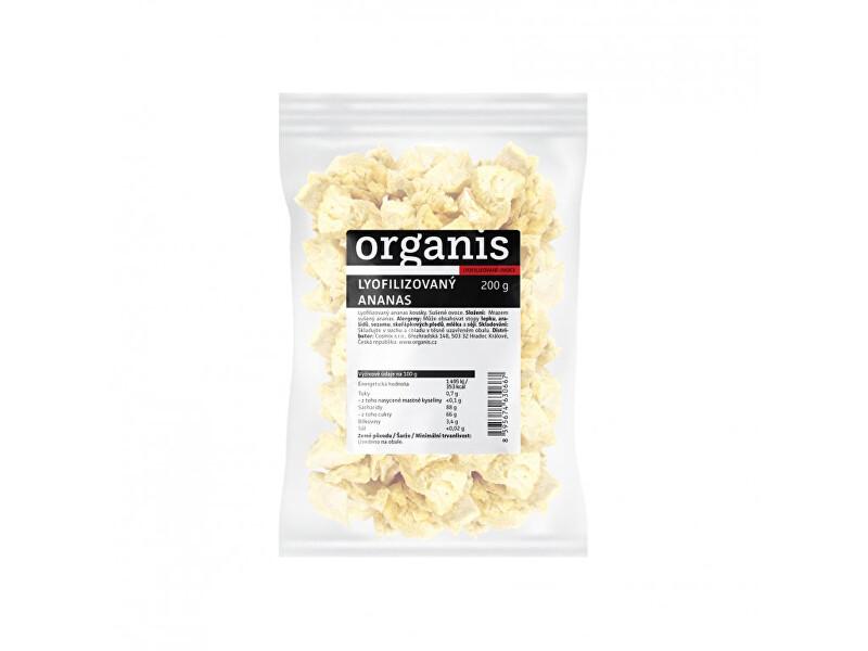 Organis Ananás sušený mrazom kúsky 200 g