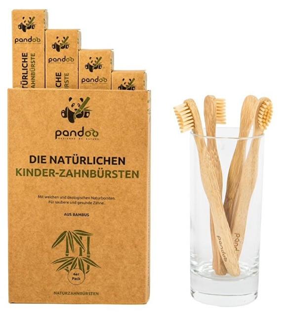 Zobrazit detail výrobku Pandoo Bambusové zubní kartáčky dětské Medium Soft - výhodné balení 4 ks