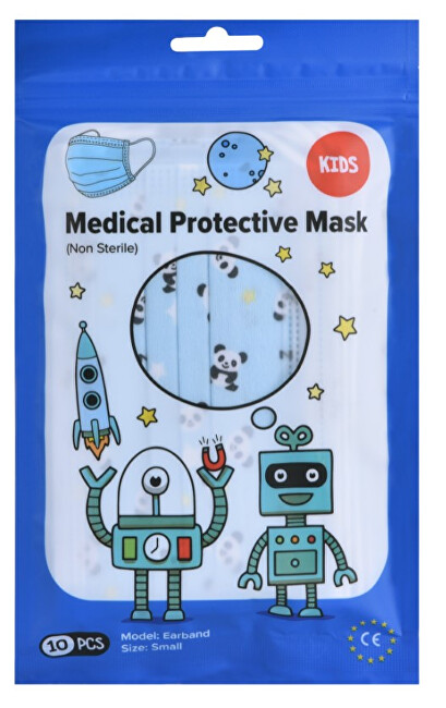Zobrazit detail výrobku Pharma Activ Rouška ústenka MEDICAL 3-vrstvá jednorázová 10 ks Chlapecká - modrá