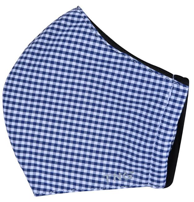 Zobrazit detail výrobku Pharma Activ TNG rouška textilní 3-vrstvá modrá vzor 1 ks vel. S