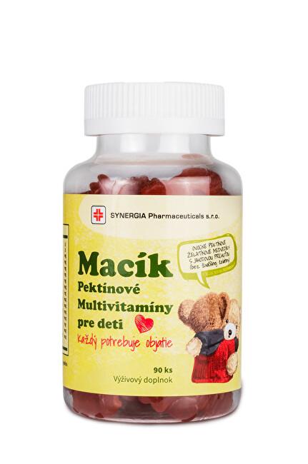 Zobrazit detail výrobku Synergia Macík - Pektinové multivitaminy pro děti 90 ks