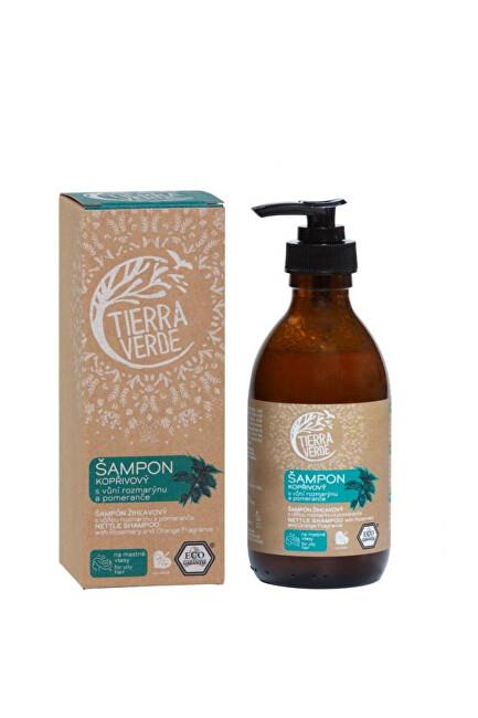 Zobrazit detail výrobku Tierra Verde Kopřivový šampon na mastné vlasy s vůní rozmarýnu a pomeranče 230 ml
