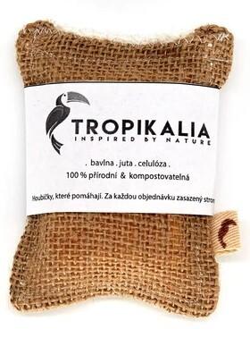 Zobrazit detail výrobku Tropikalia Kompostovatelná houbička na nádobí z juty, bavlny a přírodní celulózy (Mini)