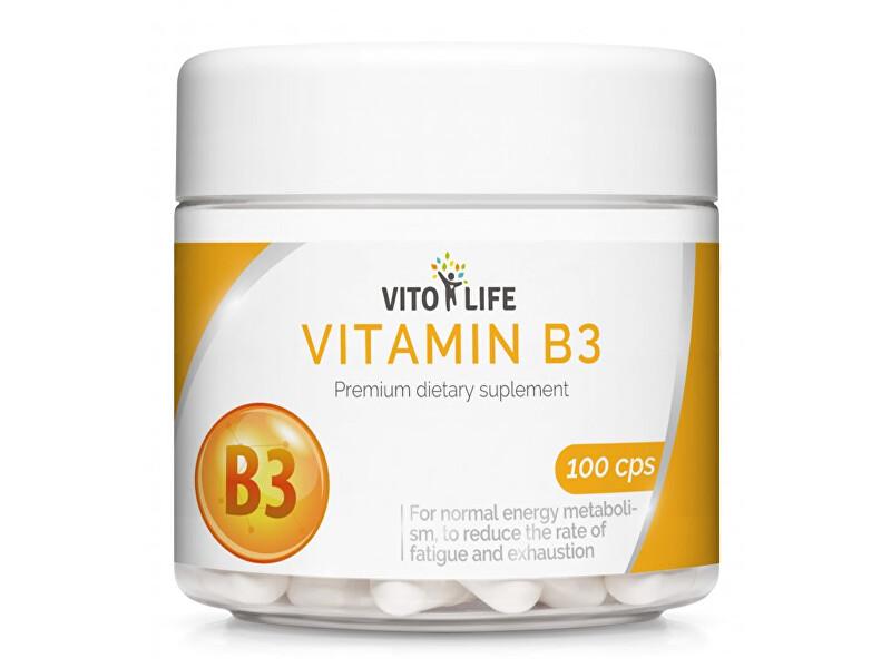 Vito life Niacin (Vitamín B3) 460 mg, 100 tobolek