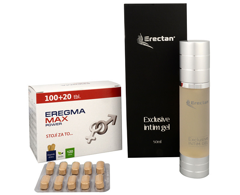 Natural Medicaments Eregma Max Power 100 tbl. + 20 tbl. ZDARMA + Erectan Exclusive intim gel 50 ml
