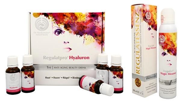 Enzympro Regulatpro Hyaluron Drink 400 ml (20 x 20 ml) + Regulat magická pleťová pěna 200 ml