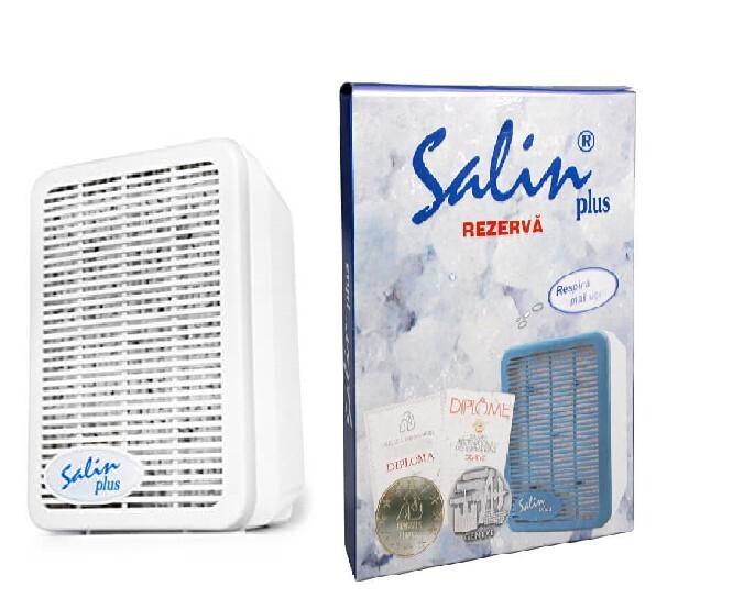 Salin Salin Plus solný přístroj pro čištění vzduchu + Náhradní solný filtr do přístroje Salin Plus