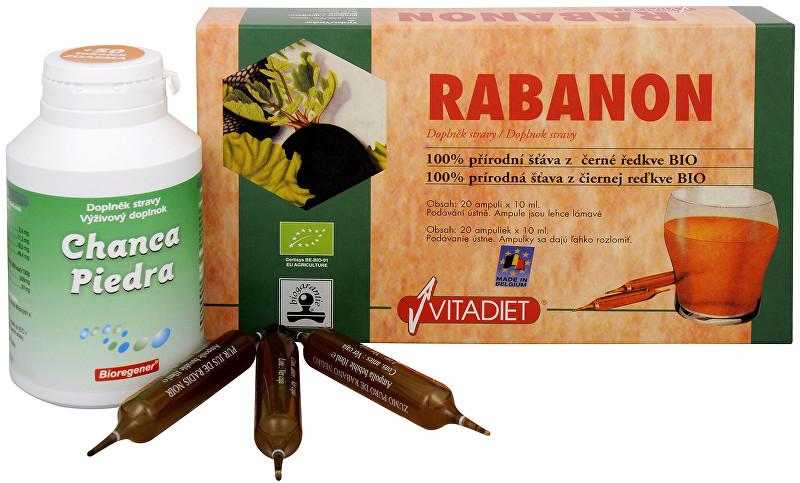 Zobrazit detail výrobku Sada Na Žlučník - Bio Rabanon 20x10 ml + Chanca Piedra 150 tob. + 50 tob. ZDARMA