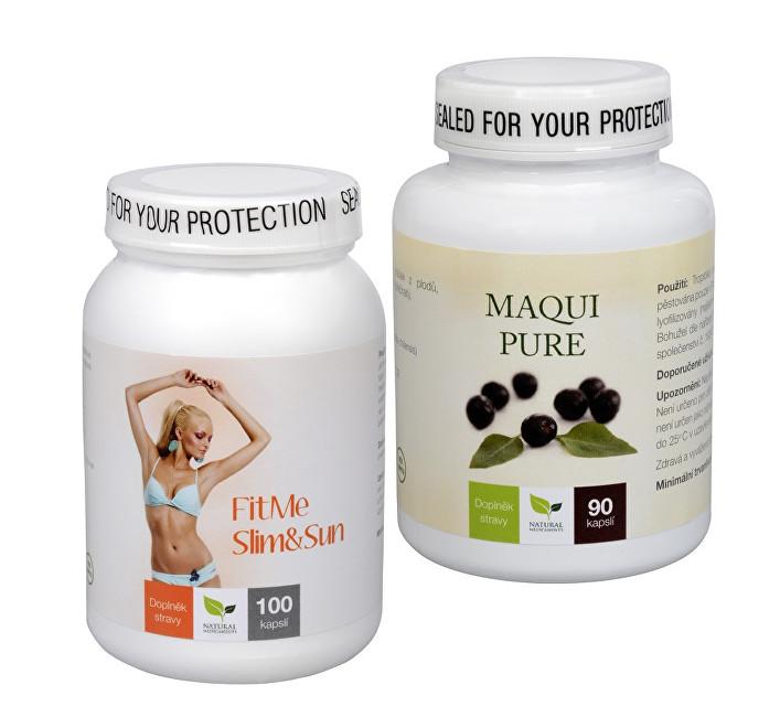 Zobrazit detail výrobku Sada Na Sluneční ochranu - Maqui Pure 90 kapslí + FitMe Slim&Sun 100 tob.