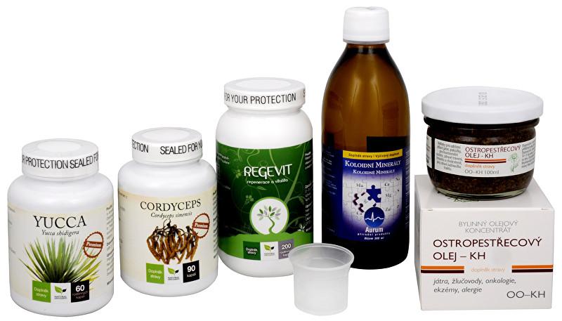 Zobrazit detail výrobku Doporučená kombinace produktů Na Únavu - Cordyceps Premium + Regevit + Koloidní minerály + Ostropestřecový olej (kaše) + Yucca