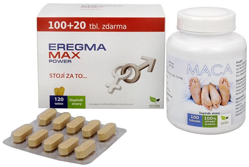 Doporučená kombinace produktů Na Mužské pohlavní orgány - Eregma Max Power + Maca