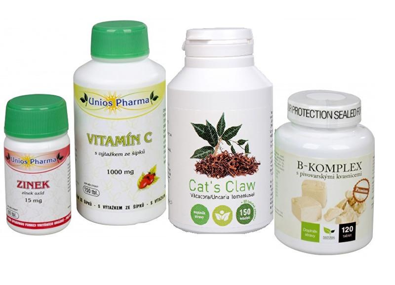 Doporučená kombinace produktů Na Pleť - Cat ´s Claw + B-komplex Premium + Vitamín C 1000 so šípkami + Zinok ZADARMO