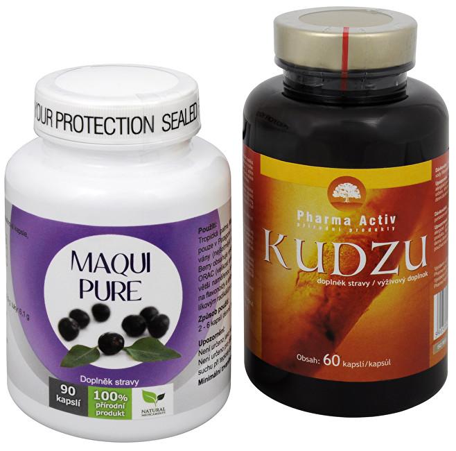 Zobrazit detail výrobku Sada Na Kouření - Natural Medicaments Maqui Pure 90 kapslí + Pharma Activ Kudzu 60 kapslí