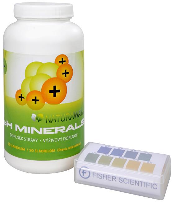 Zobrazit detail výrobku Sada Na Překyselení organismu - Indikátorové pH papírky (5,0-9,0) 200 ks + PH Minerals na odkyselení organismu 320 g