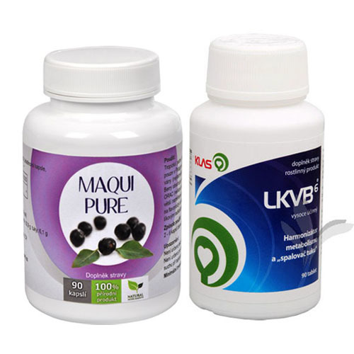 Doporučená kombinace produktů Maqui Pure + LKVB6