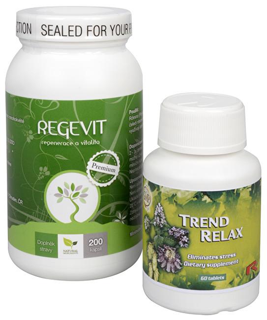 Zobrazit detail výrobku Doporučená kombinace produktů Na Stres - Regevit + Trend Relax
