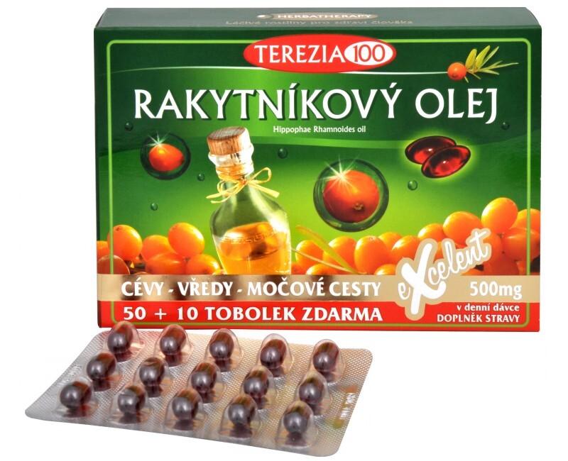 Terezia Company 100% Rakytníkový olej 50 tob. + 10 tob. ZDARMA - SLEVA - POŠKOZENÁ KRABIČKA