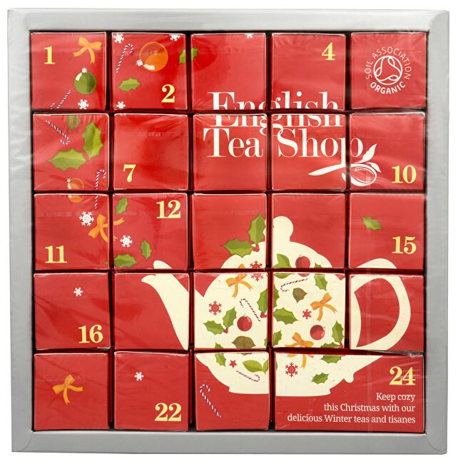 Zobrazit detail výrobku English Tea Shop Adventní kalendář Růžový - luxusní BIO čaje 24 pyramidek/12 příchutí - SLEVA - POMAČKANÁ KRABIČKA