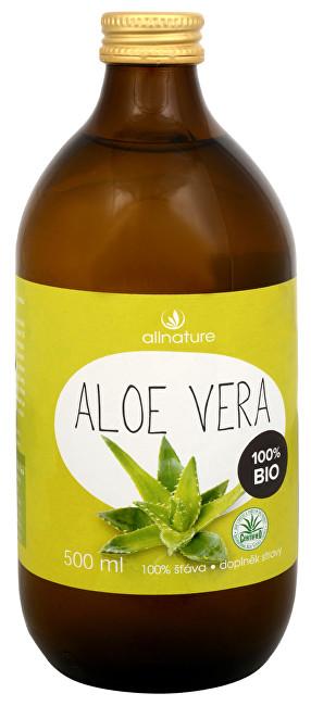 Allnature Aloe Vera - 100% Bio šťava 500 ml - ZĽAVA - Poškodená etiketa