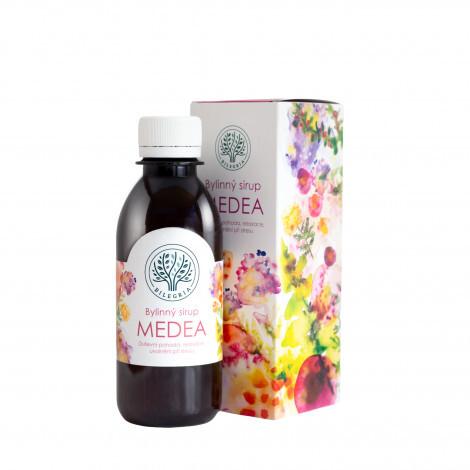 Zobrazit detail výrobku Bilegria MEDEA bylinný sirup pro duševní pohodu s kozlíkem a plicníkem 200 ml - SLEVA - POŠKOZENÝ OBAL