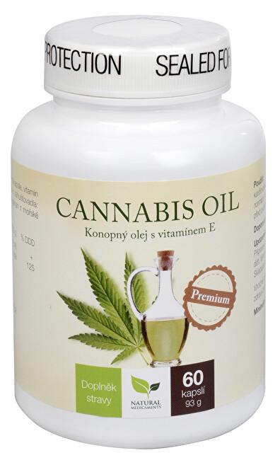 Natural Medicaments Cannabis oil 60 kapslí - SLEVA - POŠKOZENÁ ETIKETA