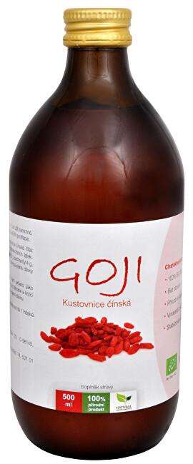 Natural Medicaments Goji Kustovnica čínska - 100% Bio šťava 500 ml - ZĽAVA - poškodená etiketa