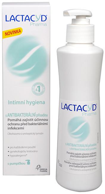 Zobrazit detail výrobku Omega Pharma Lactacyd Pharma s antibakteriální přísadou 250 ml - SLEVA - poškozená krabička